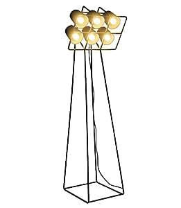 """'Lampe en métal de terre avec 6lampes """"multilampcm.53x 51h.180-nera"""