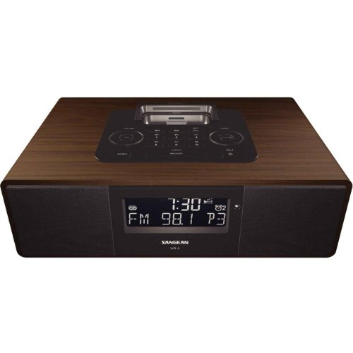Sangean WR-5 Stereo-Radio (UKW/-MW Tuner, LCD, iPod-Dock) (Ipod-dock Radio)