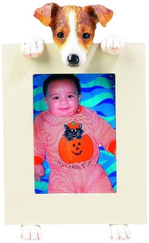 E&S Pets Jack-Russell-Bilderrahmen Hält Ihr Lieblings 2,5 von 3,5 Zoll Foto, handgemaltes Realistisch Aussehende Jack Russell Ständer 6 Zoll groß Halten Schön verarbeiteter Rahmen, Mehrfarbig -