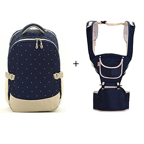 Multifunktionale Großraum-Mama-Tasche, Schultern aus dem Paket, Mutter-Paket, Mode Mutter Tasche, Mutter Baby-Tasche ( Farbe : Rose red ) Dark blue+khaki