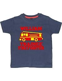 """""""NAMED"""" 'TRAINEE FIREFIGHTER' Children's T-Shirt"""