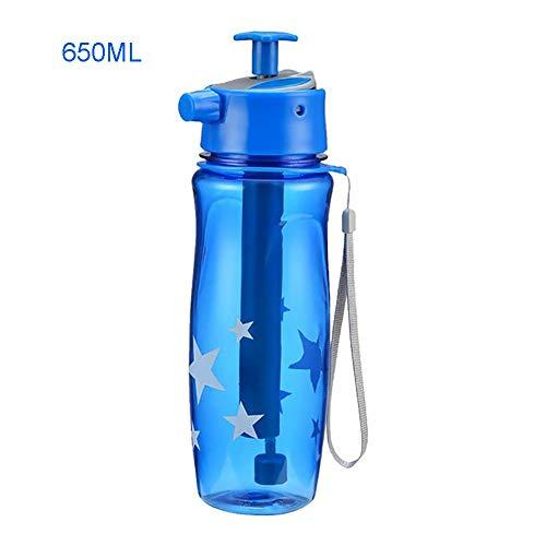 Nahrungsmittelgrad-silikon-spray (JKLKL Spray-Sport-Plastikwasserflaschen, 3 Spray-Einstellmodi, BPA-Frei, Langlebig, Für Outdoor-Mountainbike-Fitnessstudio,Blue,650ML)