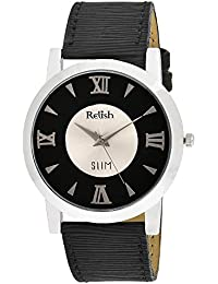 RELISH RE-S8019SB SLIM Black Dial Analog Watch For Mens & Boys
