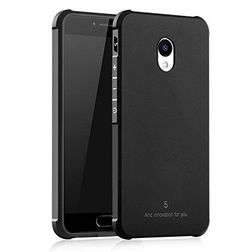 COVO® Festigkeit und Flexibilität Zurück Cover Style Smartphone Hülle für Meizu M5 (Schwarz)