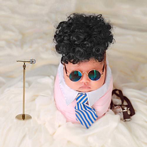Vivianu Baby-Kostüm für Neugeborene, Rock-Stil, lockiges Haar, niedliche Foto-Requisiten, Cosplay (Kostüme Lockiges Haar)