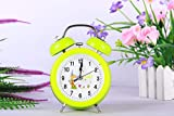 chaoaihekele Cartoon two-tone alarm clock children's creativity student bedroom silent bell small alarm