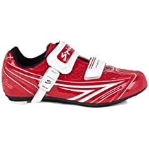 Spiuk Brios Road - Zapatilla de Ciclismo Unisex, Color Rojo/Blanco, Talla 49