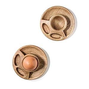 Handgemachte Eierbecher aus Eichenholz eignen sich am besten zum Servieren von weich gekochten Eiern Eierbecher servieren Holzdekor Lebensmittelfotografie