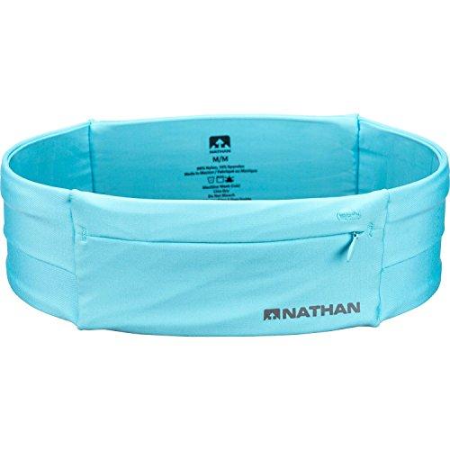Nathan 7702 The Zipster Taillengürtel zum Laufen, Unisex, 7702, White (Blue Radiance), S
