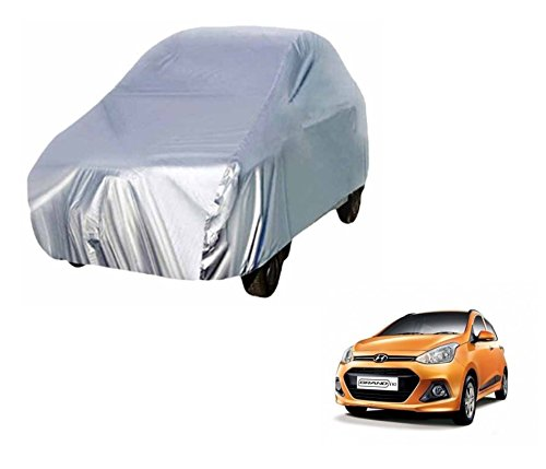Auto Hub Premium Car Body Cover For Hyundai Grand i10 - Silver Matty  available at amazon for Rs.999