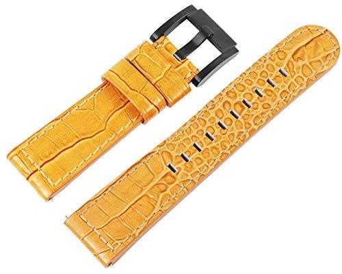 TW Steel Marc Coblen Uhrenarmband 22 mm Echtleder Farbe Krokodilbraun
