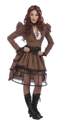 Steampunk Girl Outfit Fancy (Girl Steampunk Erwachsene Damen Kostüme Für)