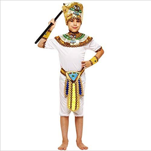 Männlich Pharao Kostüm - Ägyptischer Pharao der Kindertageskleidung-männliche und weibliche Prinzessin Ancient Greek Costumes Araber-Prinz Nile,Boy,L