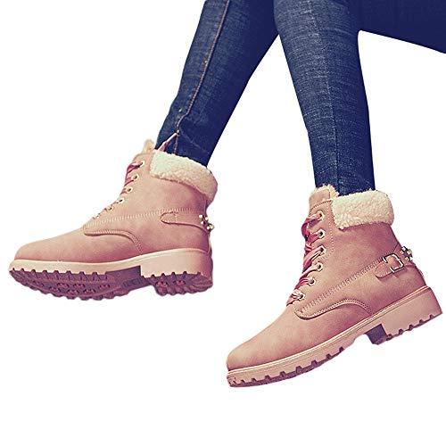 Preisvergleich Produktbild TianWlio Damen Stiefel Stiefeletten Frauen Feste Schnürstiefel Beiläufige Stiefeletten Runde Zehe Schuhe Winter Schnee Aufladungen