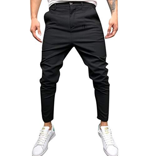 BHYDRY Art und Weisemänner nehmen Reine Farben-Verband beiläufige Smart-Pants Drawstring-Hosen ab - Rock Hose Drawstring Pants