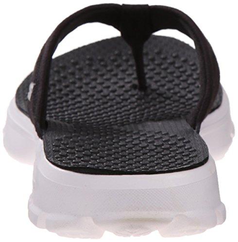 Skechers Go Walk Nestle, Sandales Plateforme femme Black/White