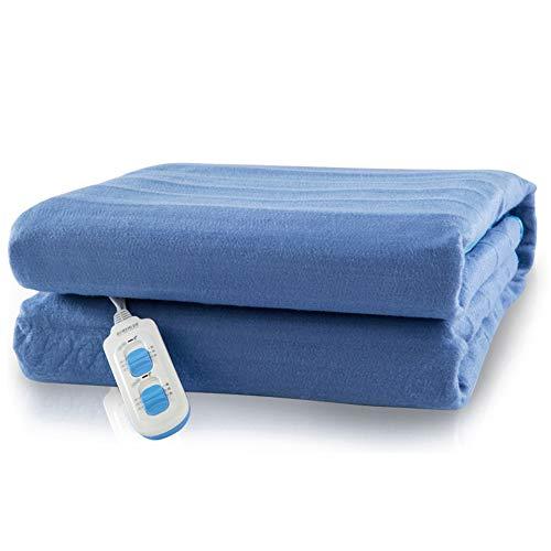 Hot-bed scaldasonno sensitive matrimoniale, tessuto anallergico, coprimaterasso maxi 150 x 120 cm, 6 temperature, risparmio energetico, lavabile in lavatrice,a