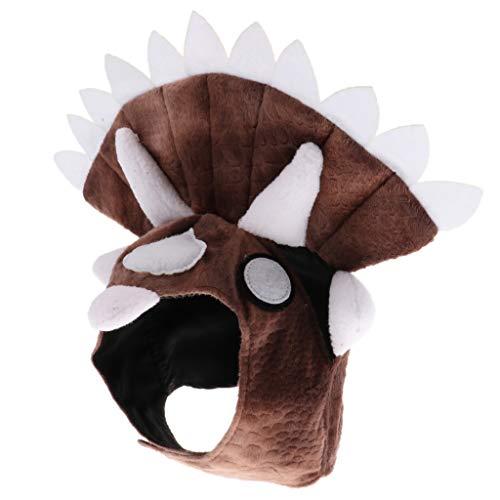 perfk Haustier Dinosaurier Hut Kopfbedeckung Halloween Kostüm für Hunde und Katzen