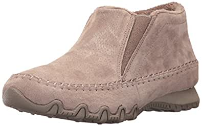 Skechers Damen Bikers-Spirit Animal Chelsea Boots, Beige (Dark Taupe), 40 EU