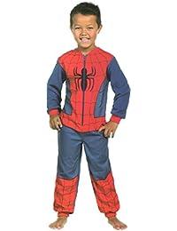 Spiderman Onesie Boys One Piece Sleepsuit All In One Pyjamas Ages 4 To 8 Years