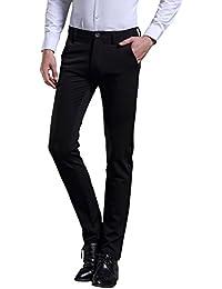 Harrms hommes Costume pantalon Slim enfant de jean droit Pantalon d'affaires