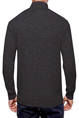 Threadbare Herren Logan Rollkragen Pullover Charcoal Marl - Grey