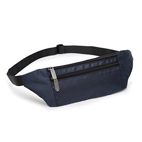 KANG@ Sport Taille Pack Multifunktions Running Männer und Frauen Outdoor Handy Tasche Anti-Diebstahl intime Stealth wasserdicht Beutel Marineblau