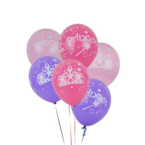 Toyvian Princess Balloons Party Dekoration für Kinder Mädchen Geburtstag Baby-Dusche (Verschiedene rosa, lila und rosig)