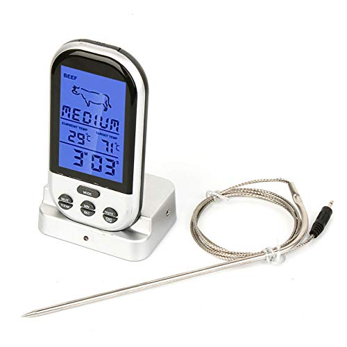 AcserGery Digital Wireless Funk Bratenthermometer/Grillthermometer mit Display