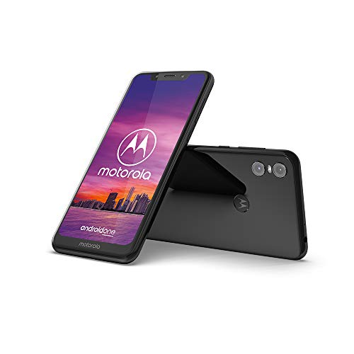 Motorola One Smartphone (14,98 cm (5,9 Zoll), 64 GB interner Speicher, 4 GB RAM, Android One) Schwarz, inkl. Protective Cover