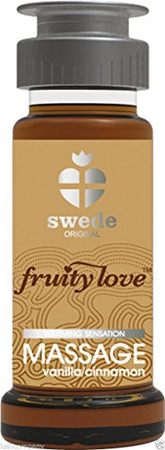 FRUITY LOVE ACEITE MASAJE EFECTOR CALOR 50 ML VAINILLA / CANELA SWEDE