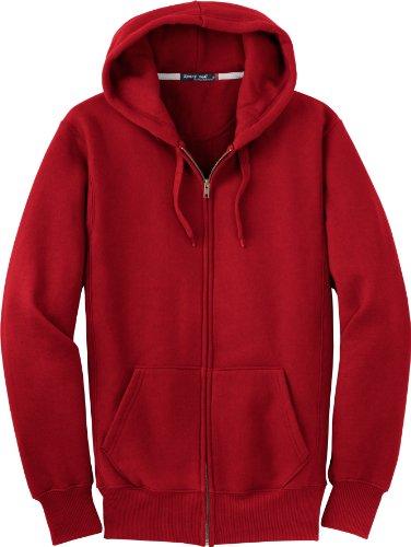 Sport-tek F282Super épais zippé Sweat à capuche Red