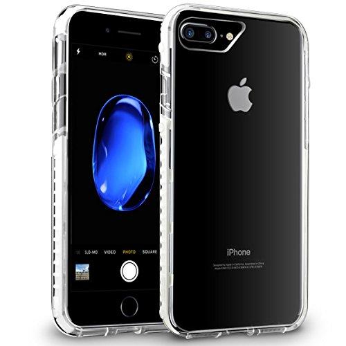 Orzly® FUSION Bumper Case für Apple iPhone 6 & 6S (4.7-Zoll Modell 2014 & 2015 Version) - Schutz Hard Cover mit stoßabsorbierenden Gummi SCHWARZ Rim und Voll Transparente Rückseite WEIß Fusion für iPhone 7 PLUS