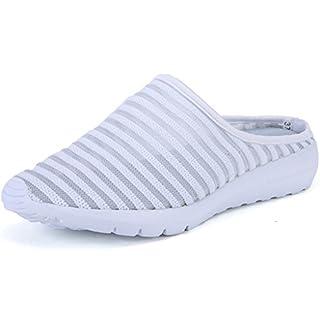 Advogue Damen Sandale Schuhe Sandalette Pantolette Clogs Mule Sommer Weiß 37