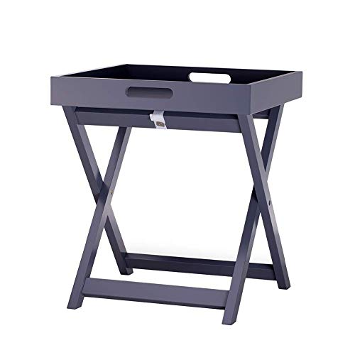 HYLH Side Table Desk End Bedside Snack Coffee Bistro Living Room Sofa Side Table Table Bed Table Small Square Table Side (Color : Gray, Size : 40 * 40 * 46cm) -