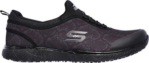 Skechers Sport Womens Microburst Mamba Fashion Sneaker Black