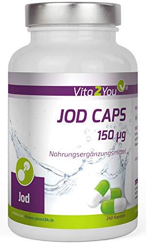 Jod Caps 150µg - 240 Kapseln - Kaliumiodid - Premium Qualität - Made in Germany