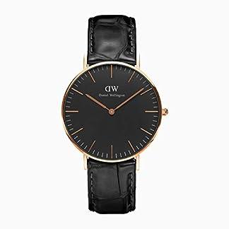 Daniel Wellington Reloj Análogo clásico para Unisex de Cuarzo con Correa en Cuero DW00100141