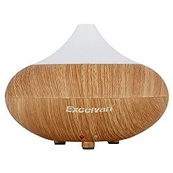 Excelvan Aroma Diffuser LED Luftbefeuchter Ultraschall Duftzerstäuber Humidifier 140ml Leichte Woodgrain-Modell