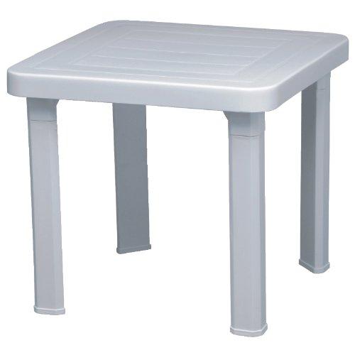 Resol Sonnenliege Beistelltisch (6 Stück), Farbe: Weiß, Polypropylen, 410 (H x B x T): 470 x 470 mm (Lounger Hundebett)