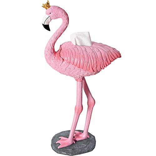 WEN PING Toilettenpapierhalter Toilettenpapierhalter, kreative Flamingo Badezimmer Handtuch Box WC Handtuchhalter frei Punch Hand Papierhalter Wohnzimmer Fach