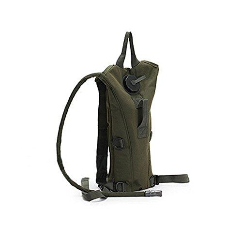 ROKOO 3L Bolsa de Vejiga de Agua Militar Senderismo Hidratación Camping Mochila Camelbak Doble Bolsas de Hombro