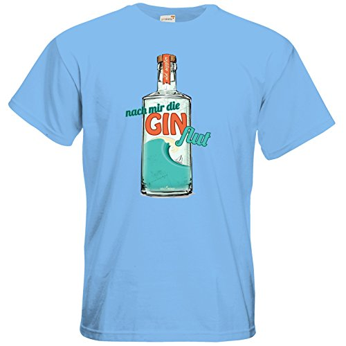 getshirts - SizzleBrothers Merchandise Shop - T-Shirt - SizzleBrothers - Grillen - Gin - Ginflut Sky Blue