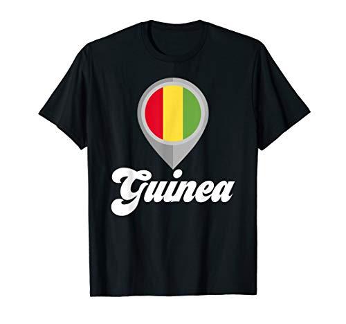 GUINEA Flag PIN Tshirt I Love GUINEA Travel Tee  T-Shirt -