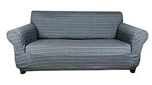 tiffy stretch sofahusse grau hussen f r sofa 3 sitzer. Black Bedroom Furniture Sets. Home Design Ideas