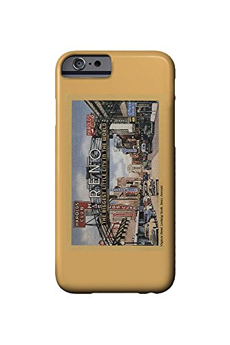 Reno, Nevada - South View of Virginia Street, Famous Reno Sign (iPhone 6 Cell Phone Case, Slim Barely There)