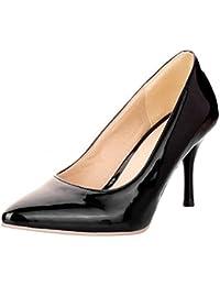 COOLCEPT Mode-Event Damen Basic Simple Pointed Toe Stiletto Heels Work Pumps