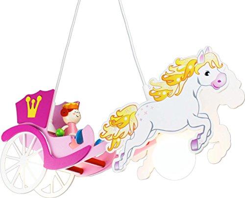 Elobra-Kinderlampe-Deckenleuchte-Pferdekutsche-Prinzessin-Kinderzimmer-Holz-rosa-A