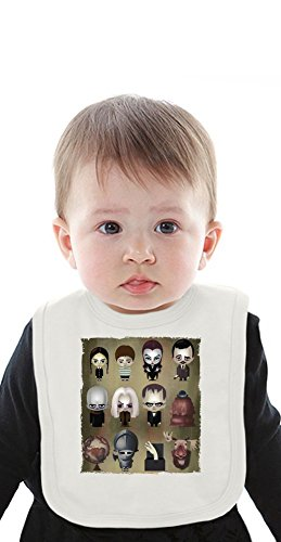 The Addams Family Organic Baby Bib With Ties Medium (Baby-gomez Addams Family)