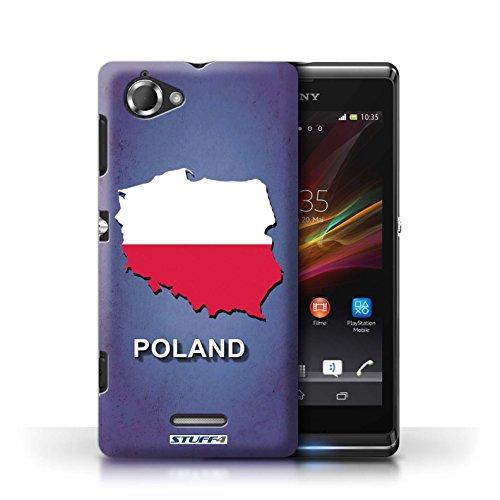 Kobalt® Imprimé Etui / Coque pour Sony Xperia L/C2105 / Suède/Suédois conception / Série Drapeau Pays Pologne/Polonais
